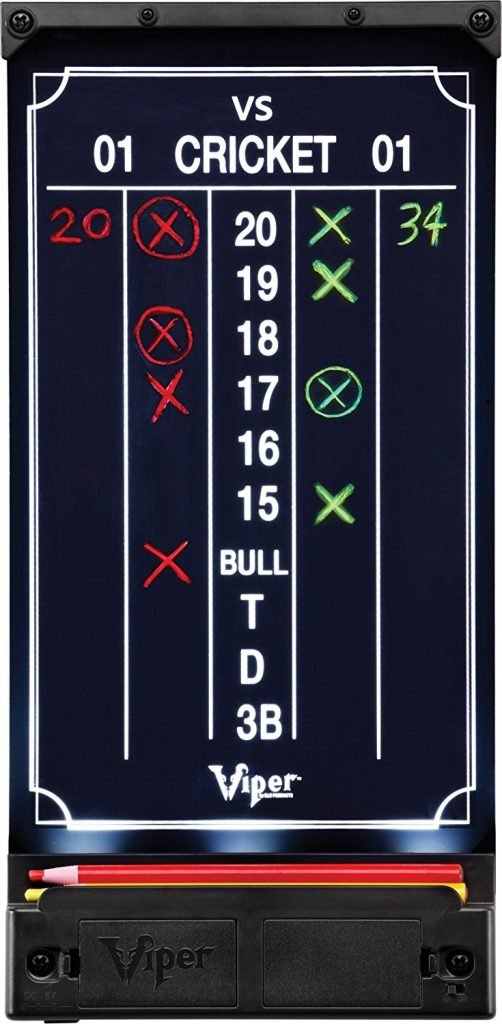 Illuminated Dart Scoreboard for Cricket and 01 Games