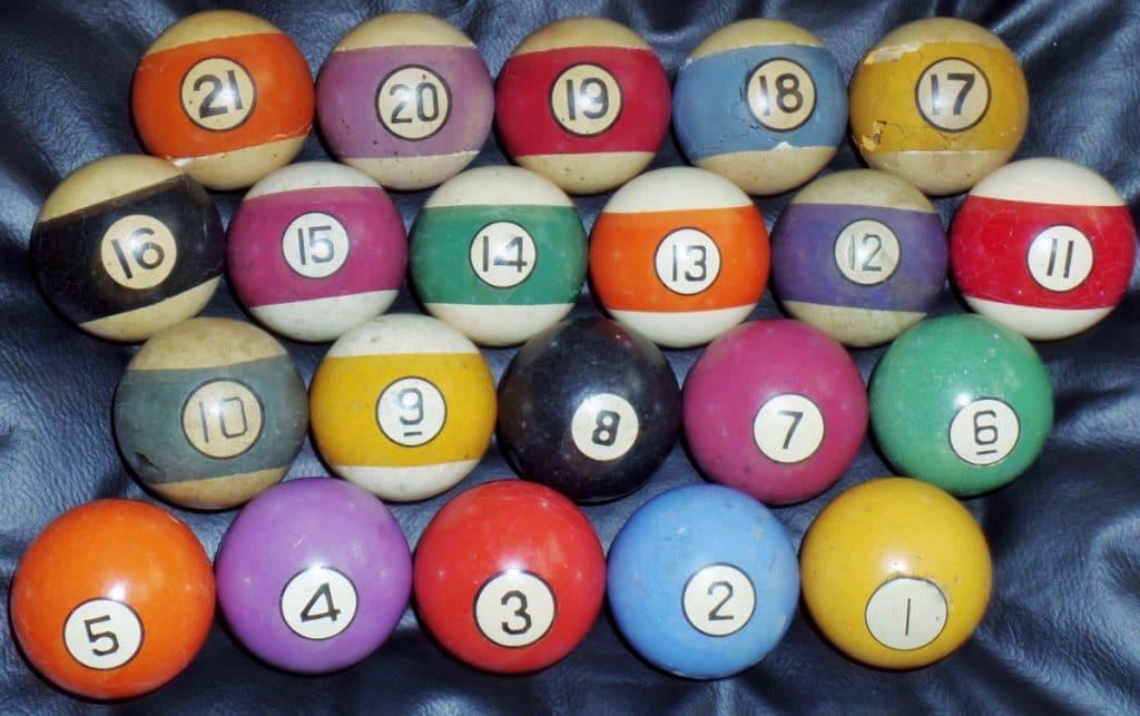 21 pool ball set