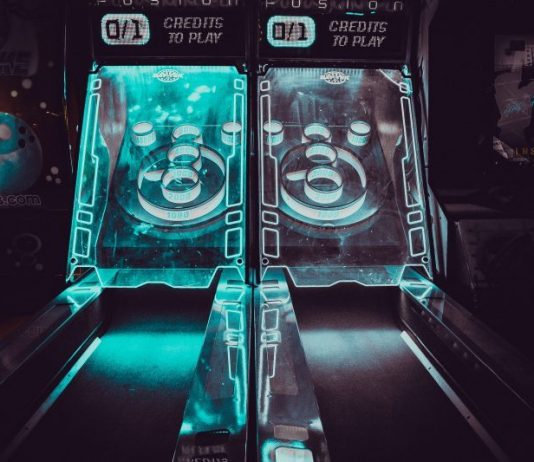 Skeeball at the bar