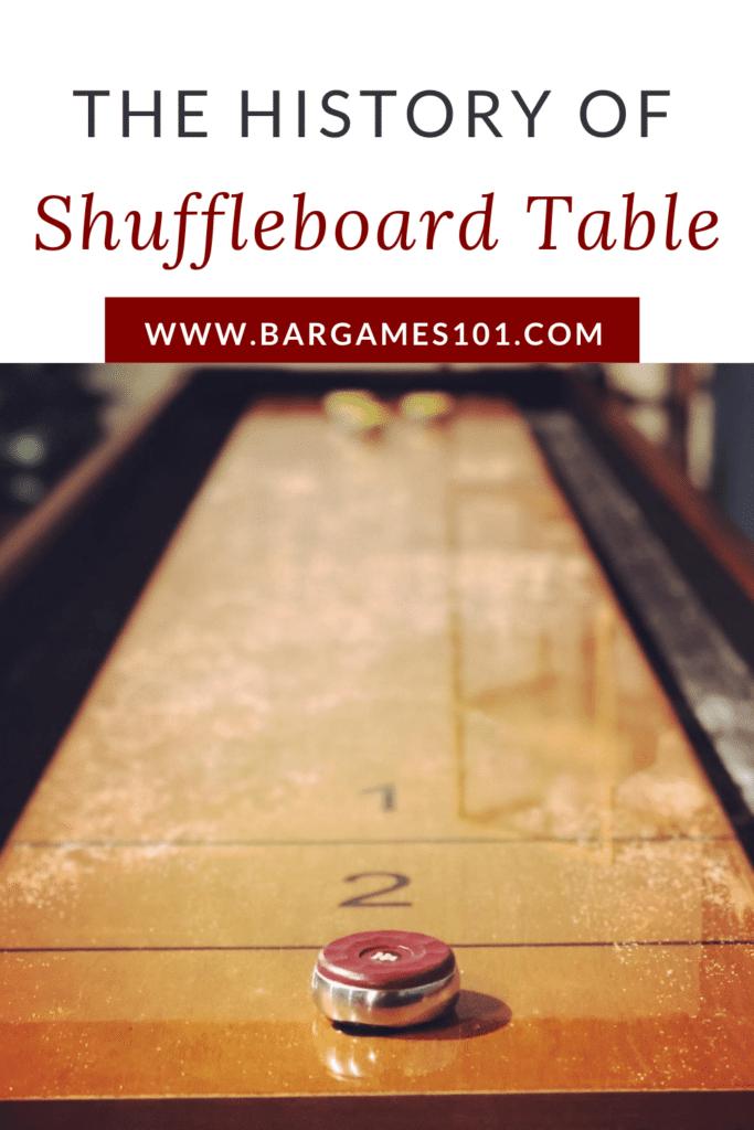 A History of Table Shuffleboard