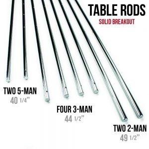 foosball rod length