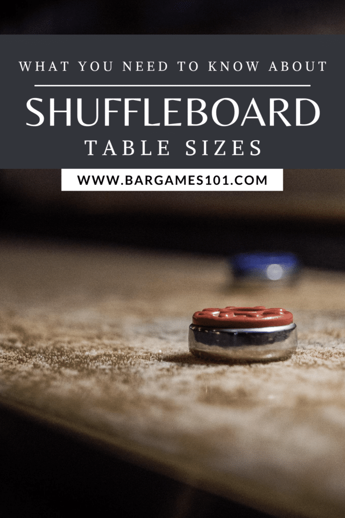What to Know About Shuffleboard Table Sizes