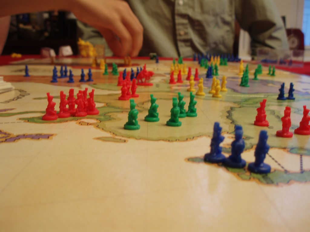 Playing Risk Board Game