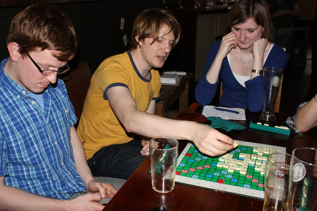 Playing Scrabble at the Pub