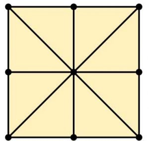 Three Mens Morris Variant Grid