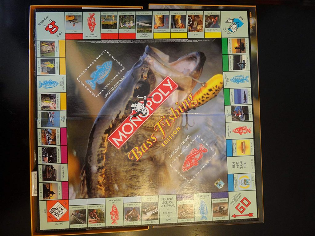 Bass Fishing Monopoly Version