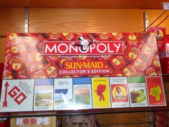 Sun Maid Raisin Monopoly Version