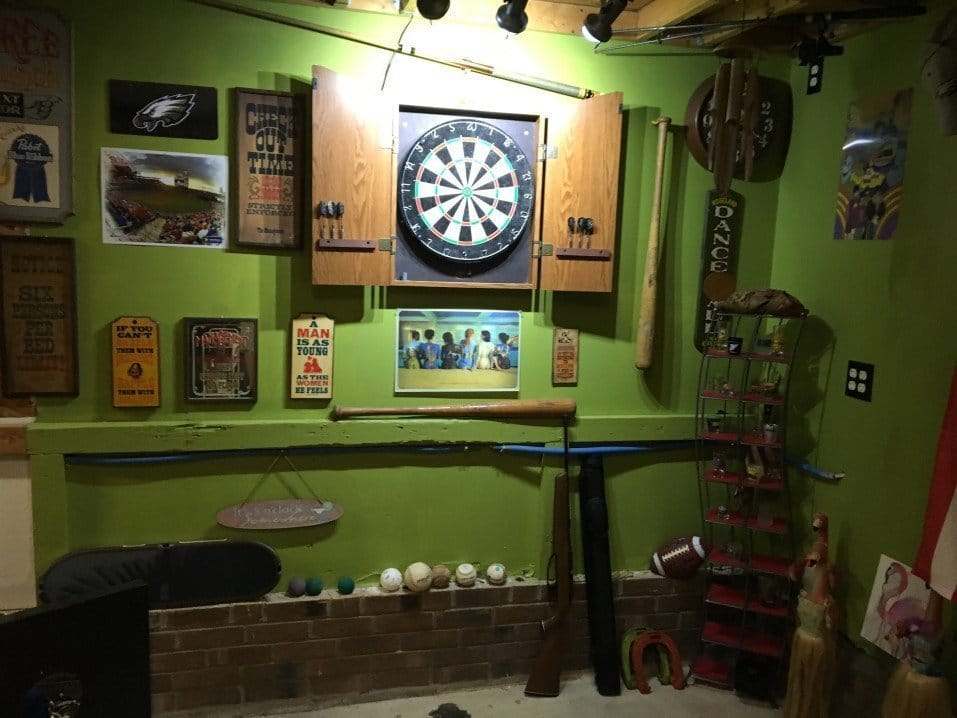 Dart Equipment in the Man Cave