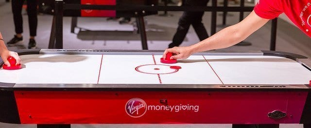 Playing Air Hockey