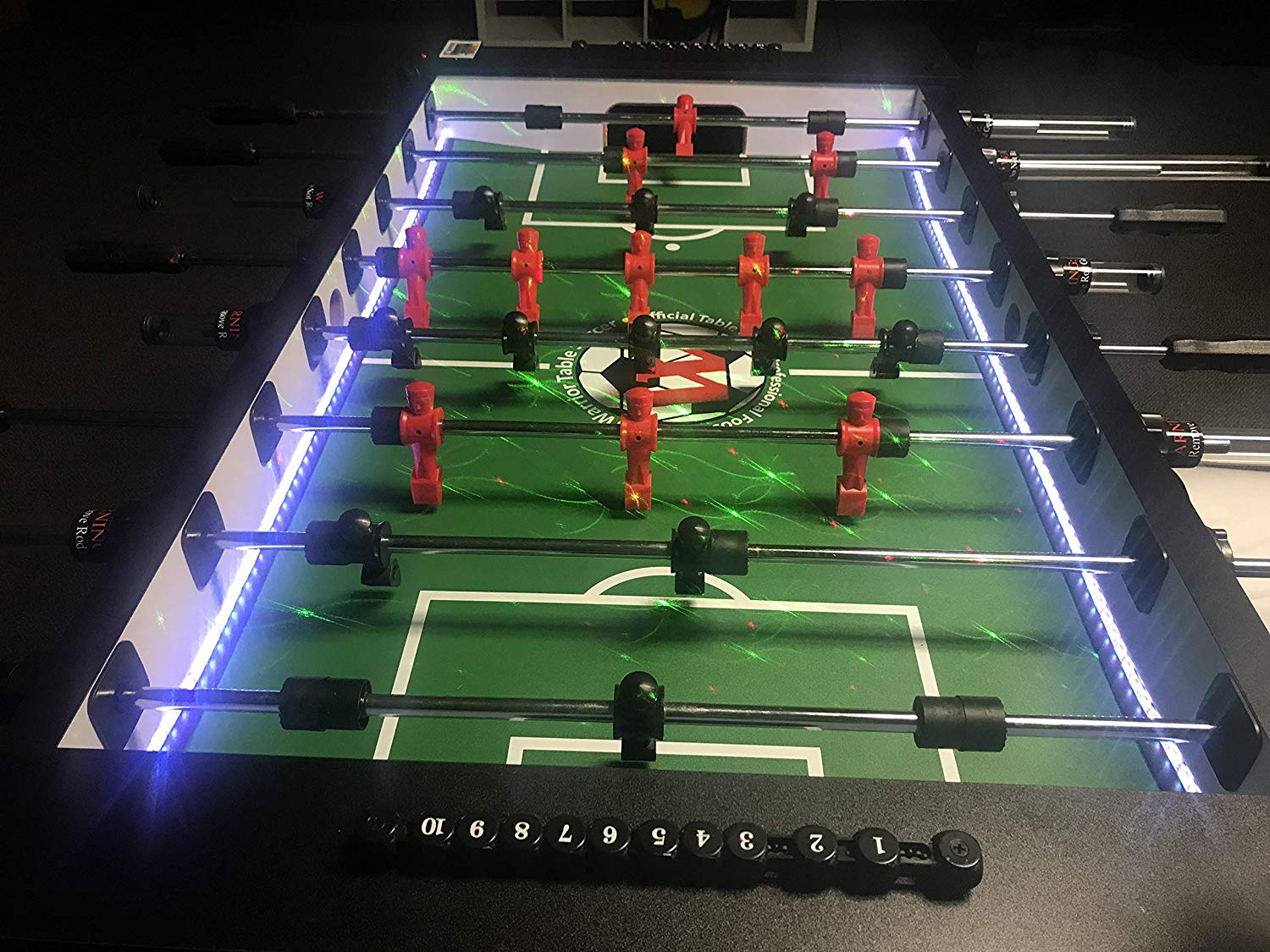 Warrior 8-person pro LED foosball table