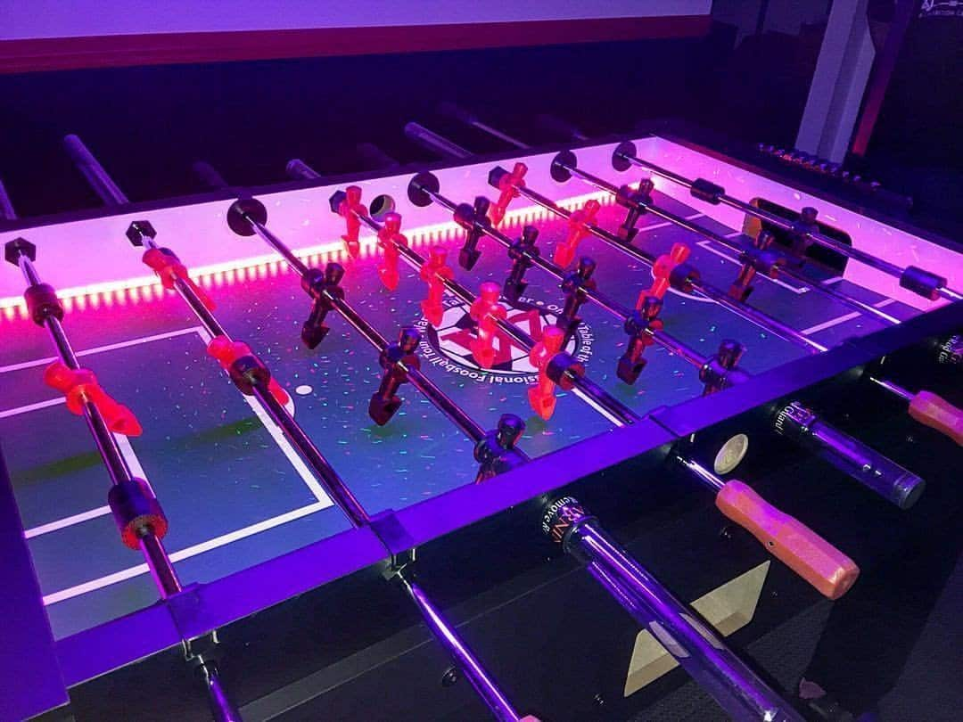 Warrior LED foosball table
