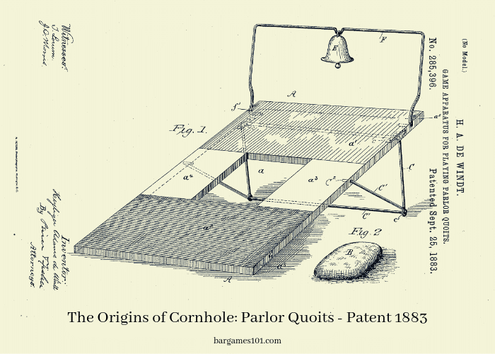 The Origins of Cornhole_ Parlor Quoits - Patent 1883