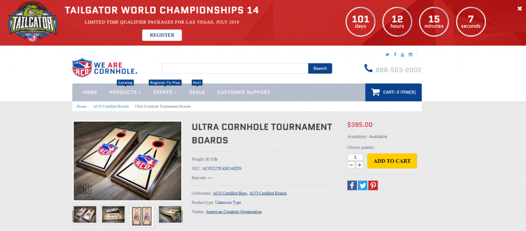 Ultra Cornhole Tournament Boards American Cornhole Organization