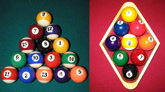 8 and 9 ball racks