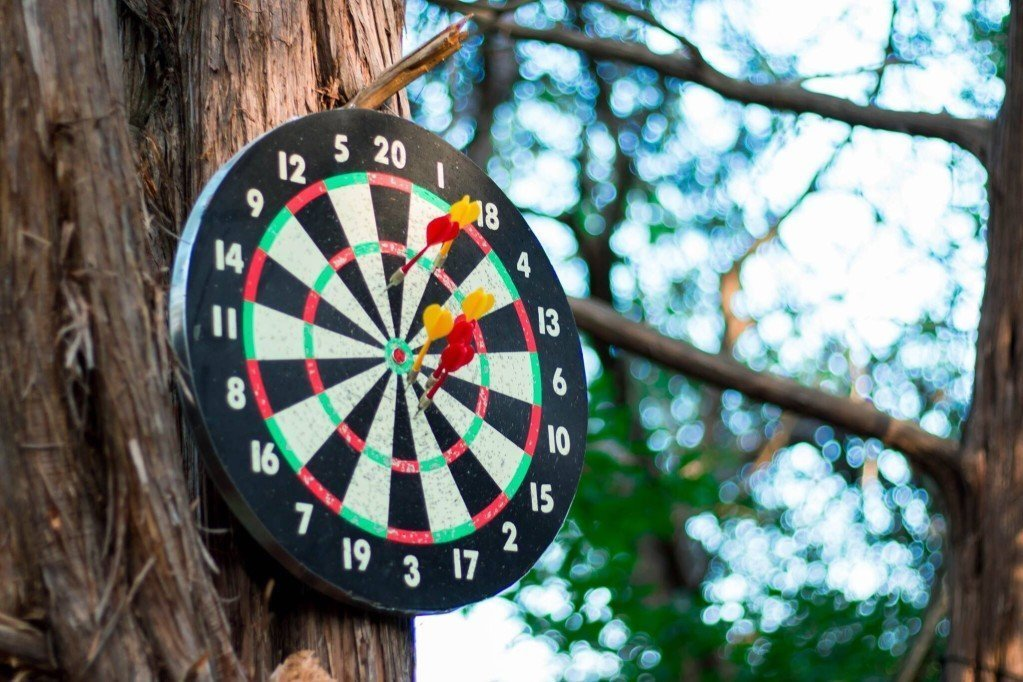 Dartboard on Tree