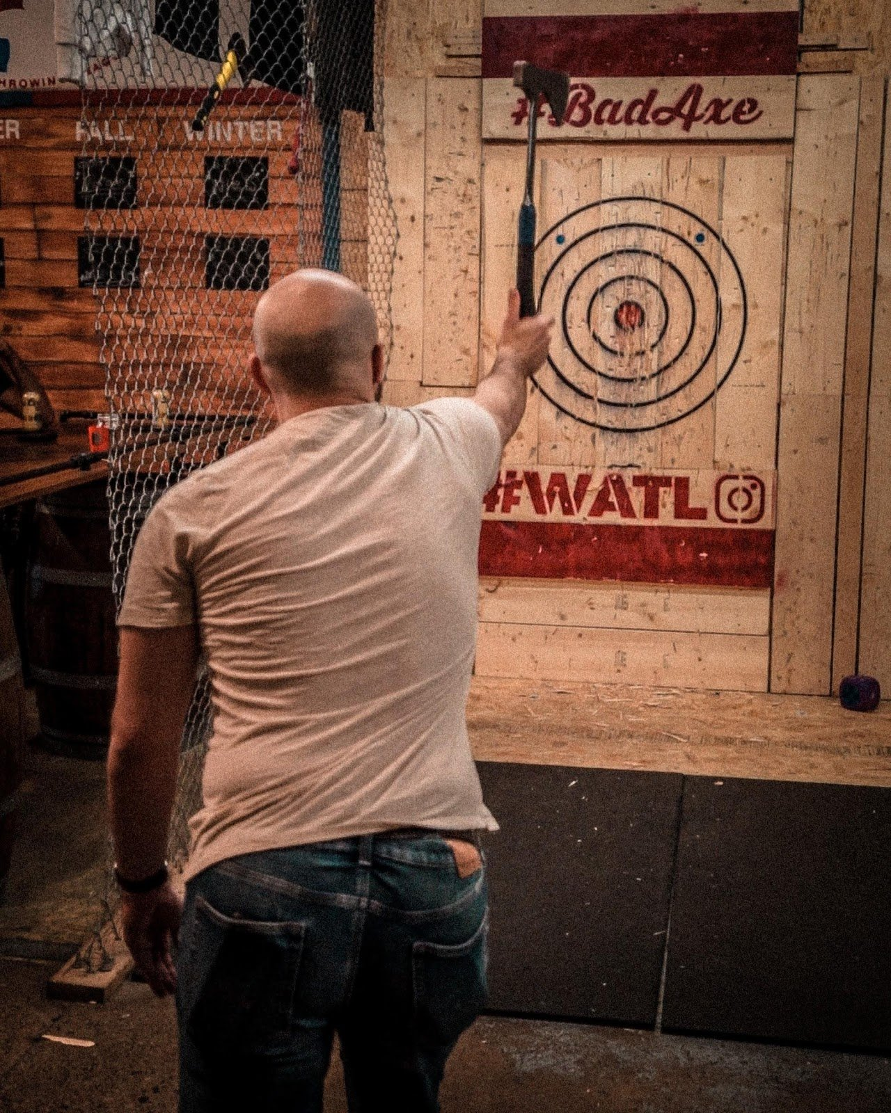 One Handed Axe Throwing