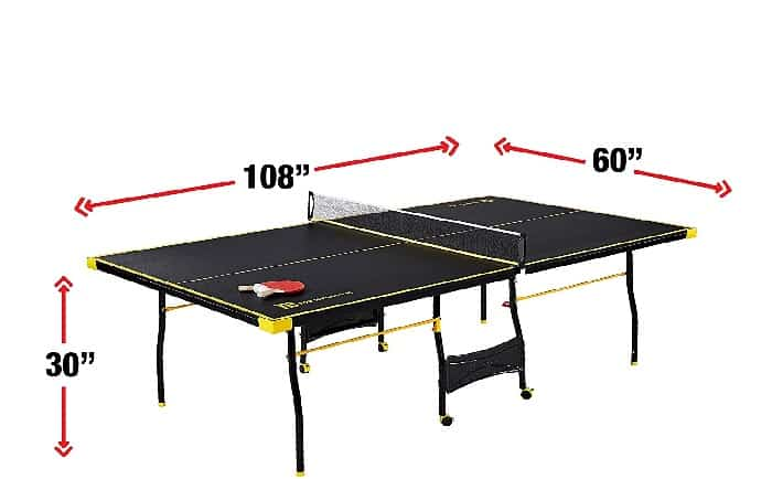 Official Regulation Ping Pong Table Size