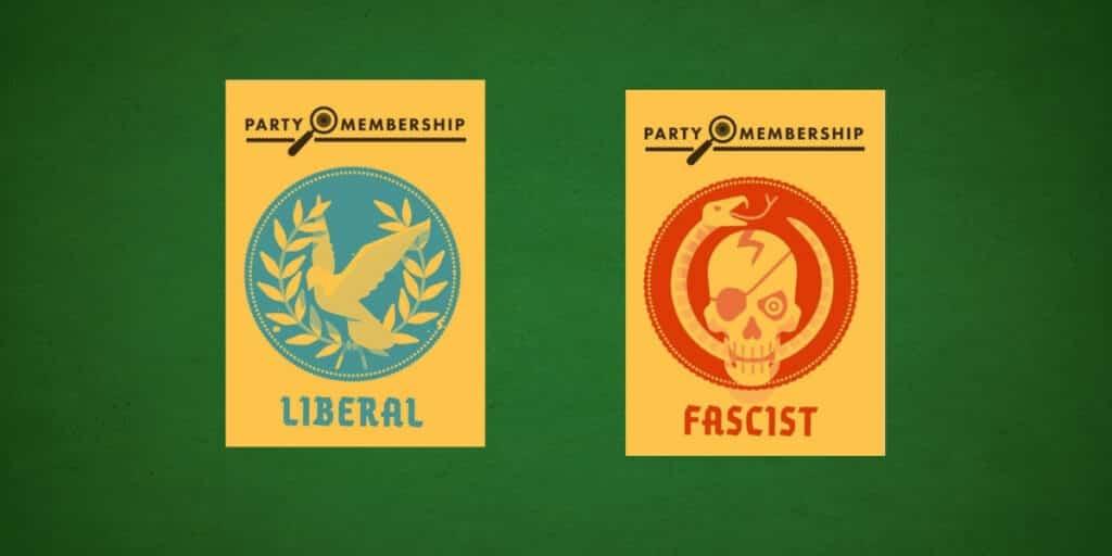 Secret Hitler party membership cards